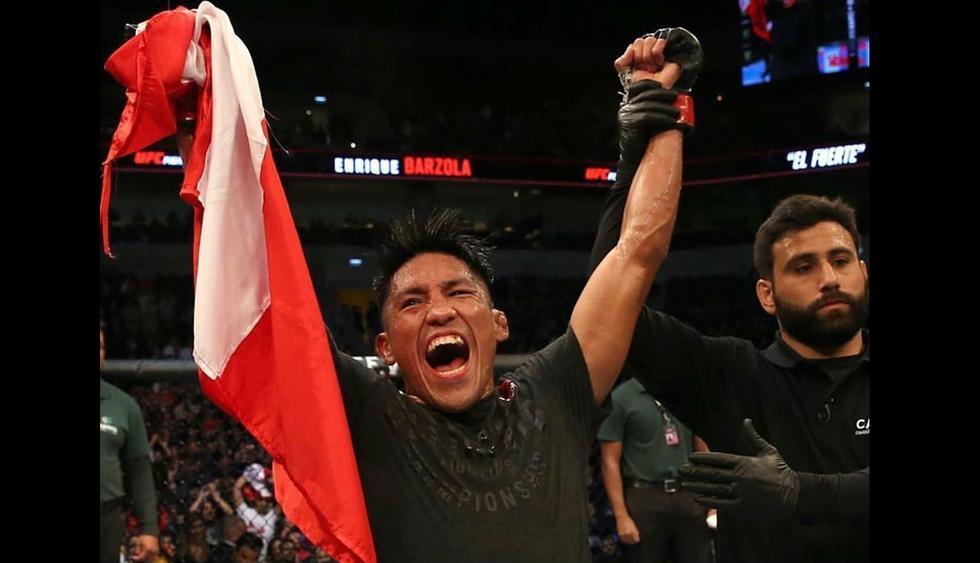 'El Fuerte' Barzola superó a norteamericano en el UFC Uruguay. (Redes sociales)